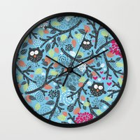 Owls. Wall Clock