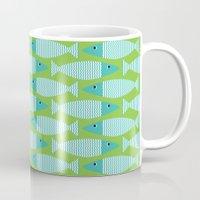 Wavy Bass - lime Mug