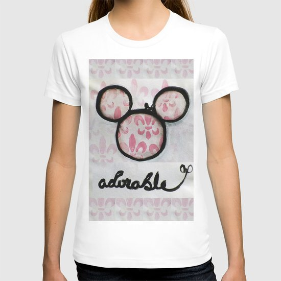 Adorable Mouse Fleur de lis Painting T-shirt