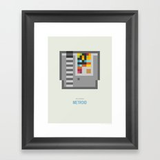 Metroid Cartridge Framed Art Print