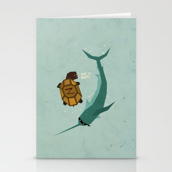 T is for Turtle Stationery Card
