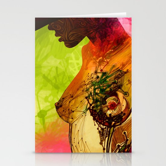 Woman. Complicated  Stationery Card