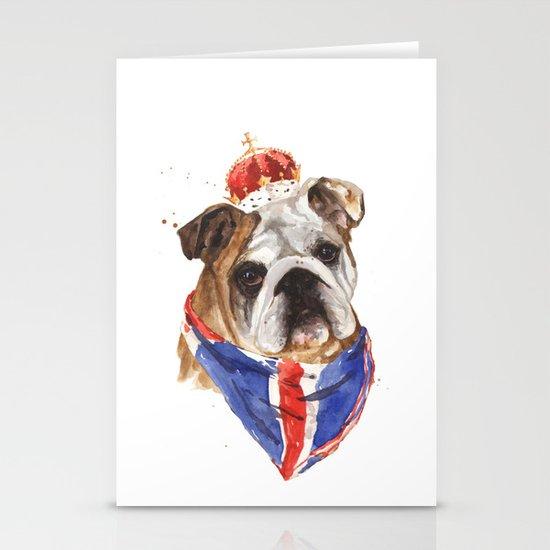 Thank you LONDON - British BULLDOG - Jubilee Art Stationery Card