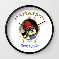 Parappa - Kick Punch Wall Clock
