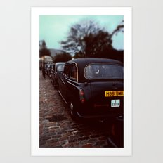 London Cab Art Print