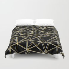 Ab Gold and Silver Duvet Cover