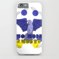 iPhone & iPod Case featuring No More Ghosts - Glaucous Macaw by Kathryn Corlett // Illustration and Desi