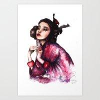 Geisha Girl // Fashion I… Art Print