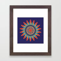 Kaleidoscope Quilt Framed Art Print