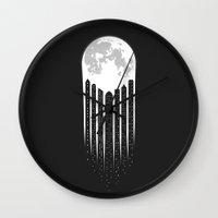 Moon-City Wall Clock
