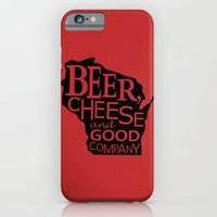 Red and Black Beer, Cheese and Good Company Wisconsin Graphic iPhone 6 Slim Case