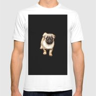 Doggy  Mens Fitted Tee White SMALL