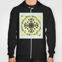 Butterfly Garden Abstract Collage Hoody