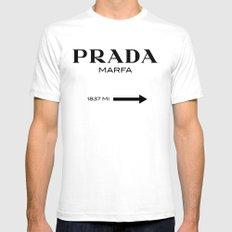 PRADA'S MARFA Mens Fitted Tee White SMALL