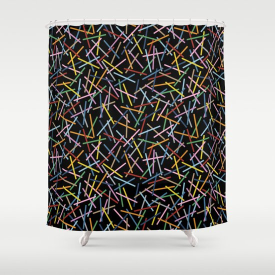 Kerplunk Black 2 Shower Curtain