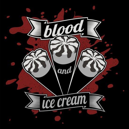 Blood & Ice Cream - Silver Variant Canvas Print