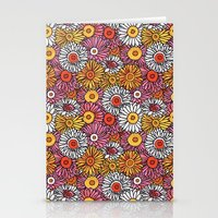 Daisy Pattern Stationery Cards