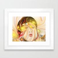 Colorful Woman 2 Framed Art Print