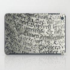 ancient writing iPad Case