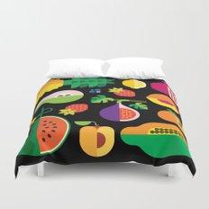 Fruit Medley Black Duvet Cover
