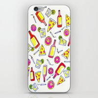 Vices - Illustration - liquor, junk food, beer, smoking, donuts, pizza iPhone & iPod Skin