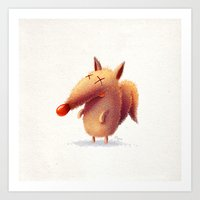 Monday fox Art Print