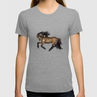 HORSE - Cherokee Womens Fitted Tee Tri-Grey SMALL
