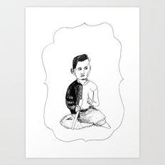 Portrait of a Victorian Baby Art Print