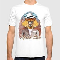 mister Lion Mens Fitted Tee White SMALL