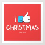 I Like Christmas (with Y… Art Print