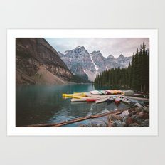 Lake Moraine Art Print