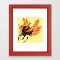 Autumn Burst Framed Art Print