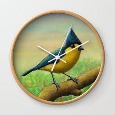 Yellow Tit Wall Clock