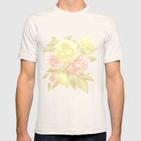 Floral Design Mens Fitted Tee Natural SMALL