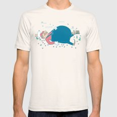 Too Many Mushrooms Natural SMALL Mens Fitted Tee