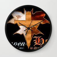 Heaven & Hell Bat Wall Clock