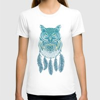 Midnight Dream Catcher Womens Fitted Tee White SMALL