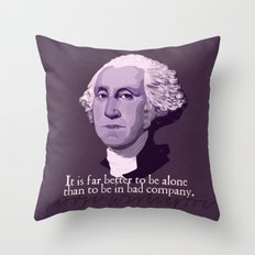 It Is Far Better To Be Alone Throw Pillow