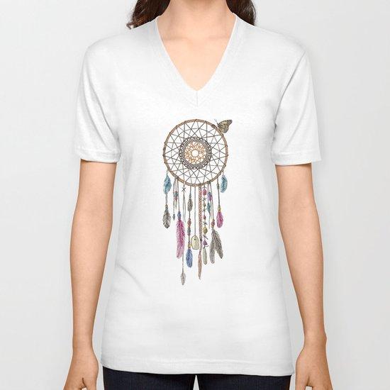 Lakota (Dream Catcher) V-neck T-shirt