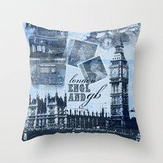 Anglophile Love Throw Pillow