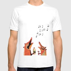 Fox fun White SMALL Mens Fitted Tee