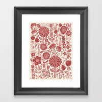 Red Flowers Framed Art Print