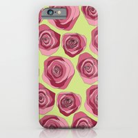 iPhone & iPod Case featuring Bright Rose Pattern by Lauren Peckham