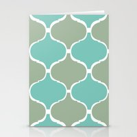 Marrakech Pattern Sea Gr… Stationery Cards