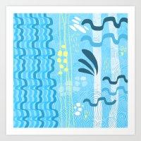 Water rays Art Print