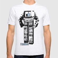 I nobot Mens Fitted Tee Ash Grey SMALL