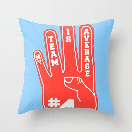 Foam Finger Throw Pillow