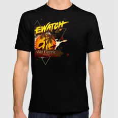 Baewatch - Wet Electric Black Mens Fitted Tee SMALL