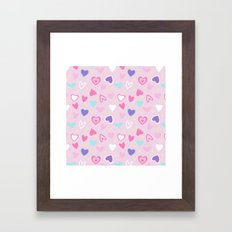Love Heart Print  Framed Art Print