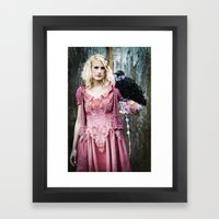 Talk to the bird Framed Art Print
